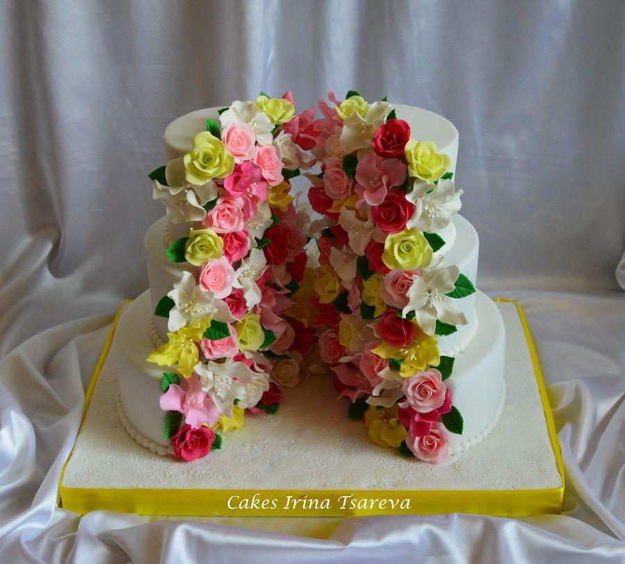 Картинки цветы торты