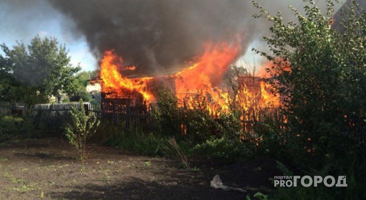 В Меленках во время пожара погиб мужчина