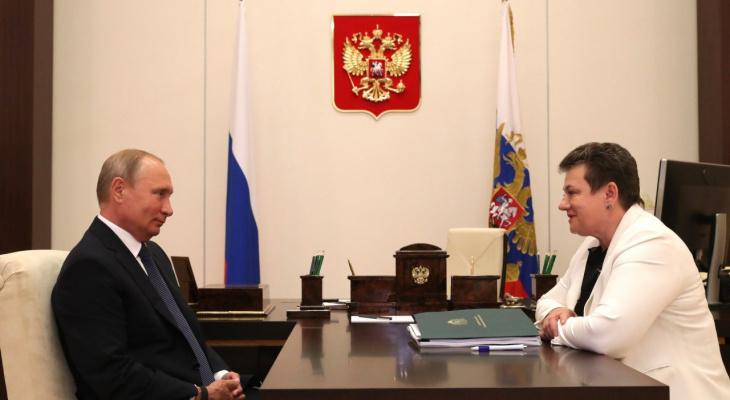 Орлова на встрече с Путиным заявила, что трасса М-7 лучше, чем в Германии
