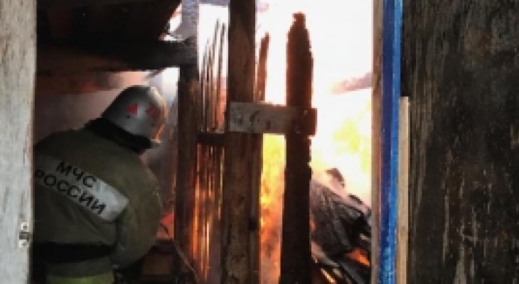 На пожаре в Юрьев-Польском спасли двух человек