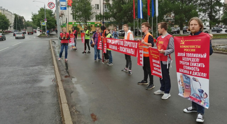 Владимирцы сигналили коммунистам, выступающим против роста цен на бензин