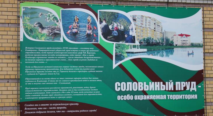 Владимирцы снова встали на защиту Соловьиного пруда