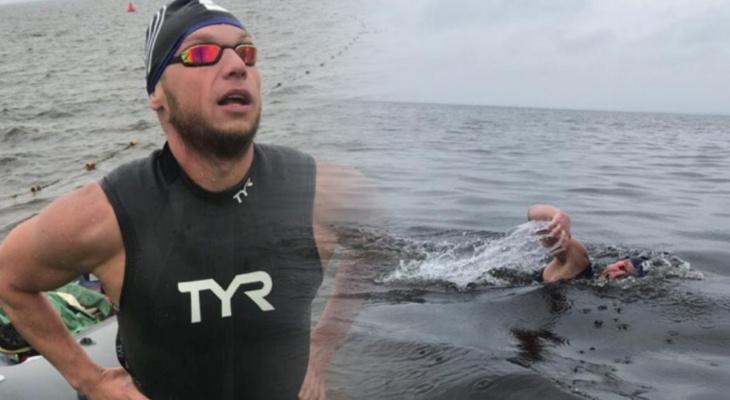 """""""6 часов без остановки в 14-градусной воде"""": владимирец о рекордном заплыве"""