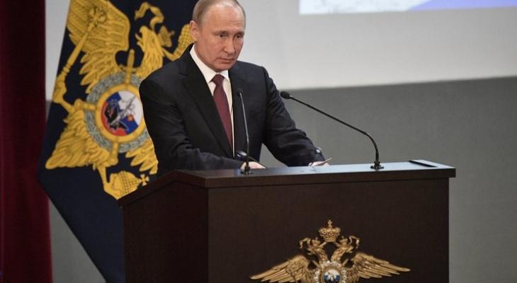 Владимир Путин поздравил владимирцев с 75-летием области