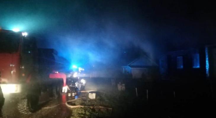 Под Суздалем сгорел огромный жилой дом