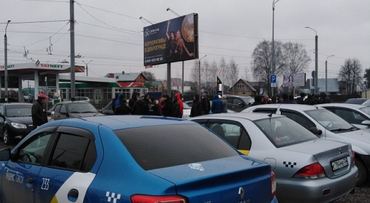 В Коврове водители Яндекс.Такси устроили забастовку