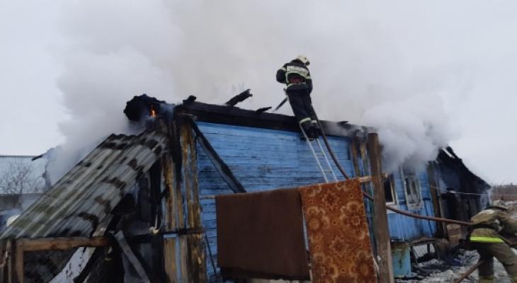Сегодня в Вязниках сгорел дом