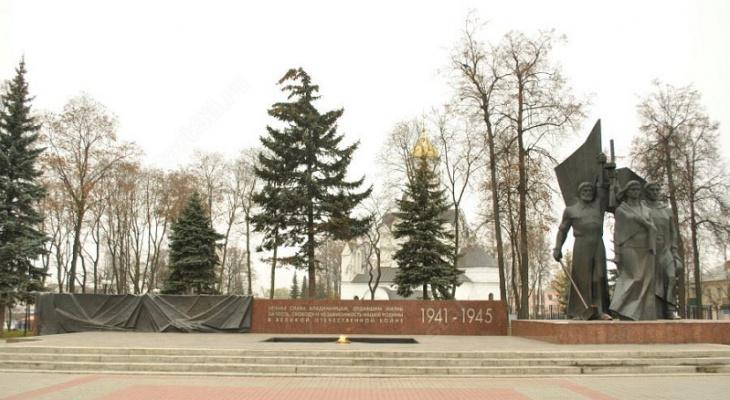 Утром на площади Победы погас Вечный огонь