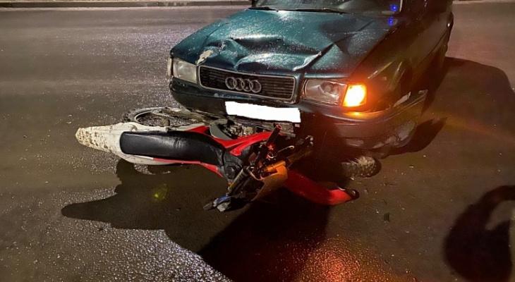 В Коврове пьяный водитель сбил мотоциклиста