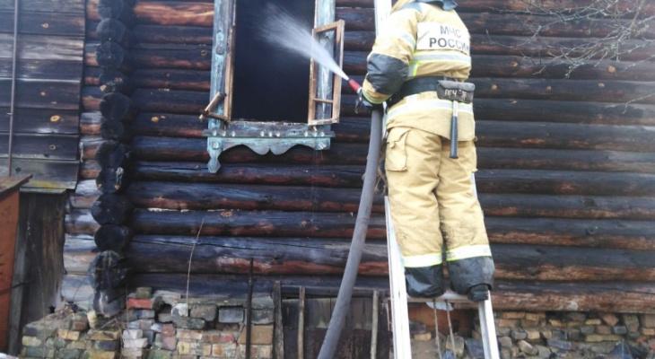 В Гусь-Хрустальном сегодня на пожаре погиб мужчина