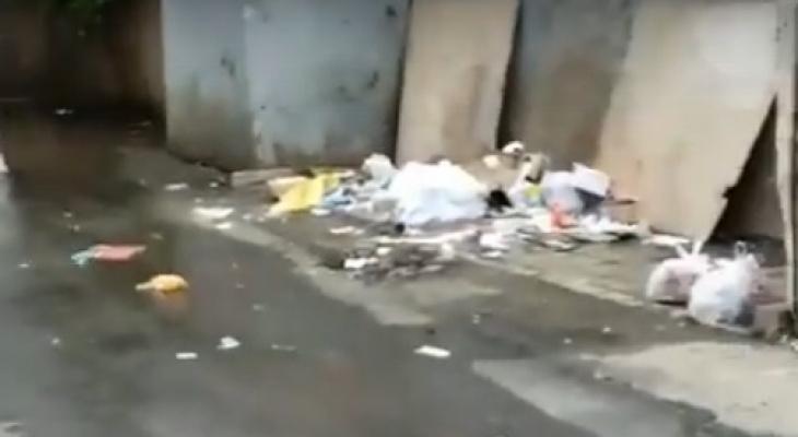 Во Владимире прохожие устроили свалку прямо на дороге