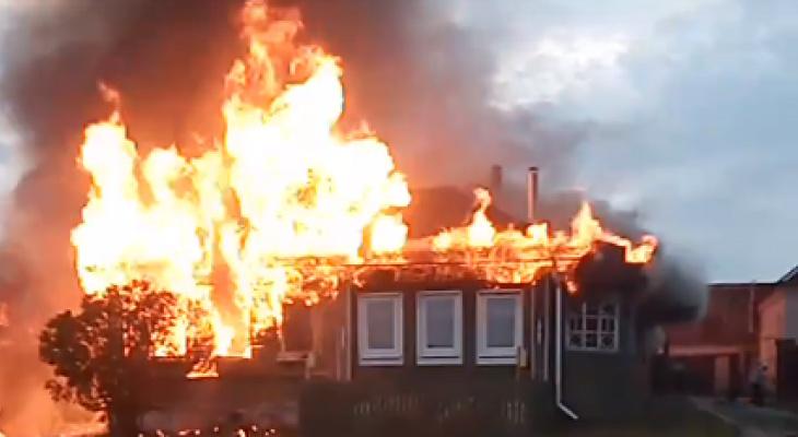 В Муромском районе сгорел жилой дом