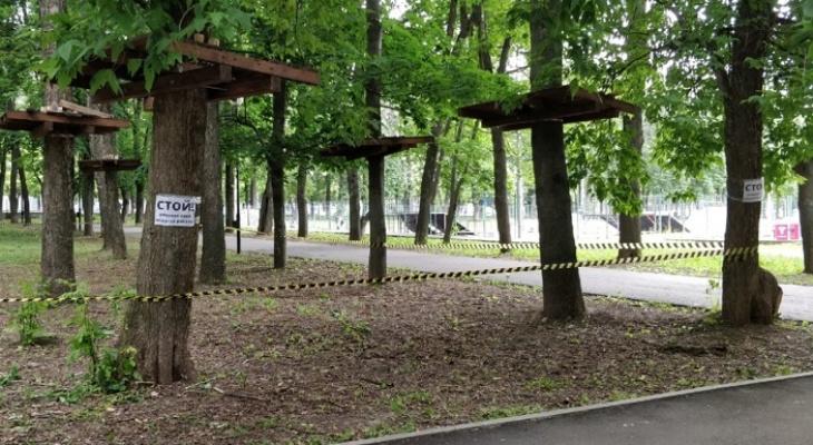 Во владимирский Центральный парк переезжает веревочный городок из Доброго