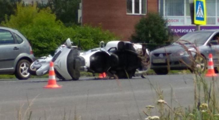 На перекрестке во Владимире сбили мотоциклиста