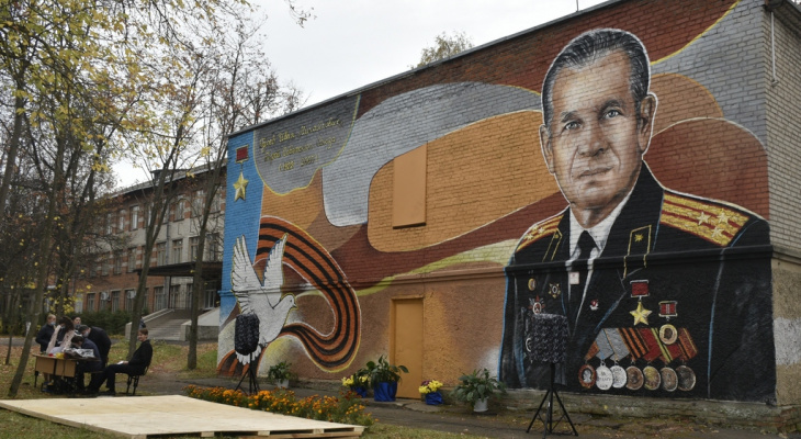 Во Владимире нарисовали граффити в честь Героя Советского Союза