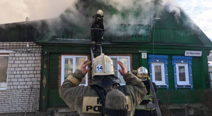 Во Владимирской области сгорели несколько домов