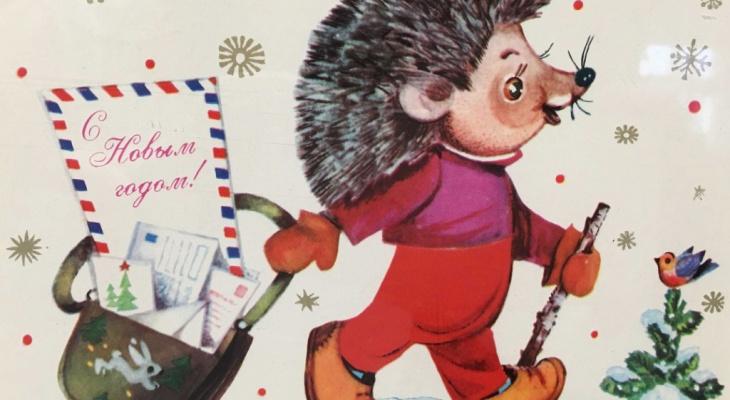 Какими были новогодние открытки и игрушки в середине 20 века?