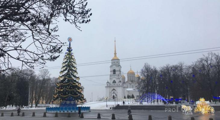 Стало известно, когда во Владимире уберут новогодние украшения