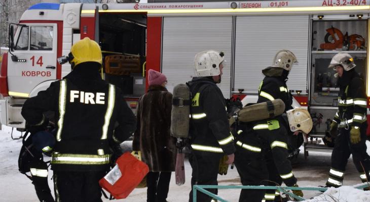 Во Владимирской области пенсионер чудом спасся из горящего дома