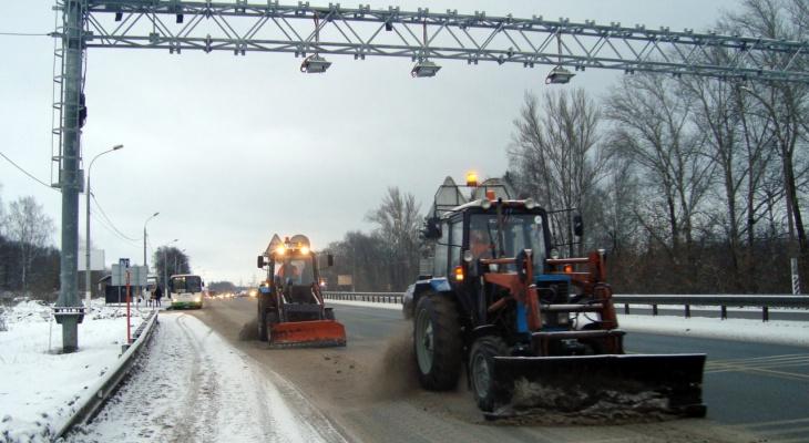 За сутки на М7 во Владимирской области использовали 700 тонн противогололедных материлов