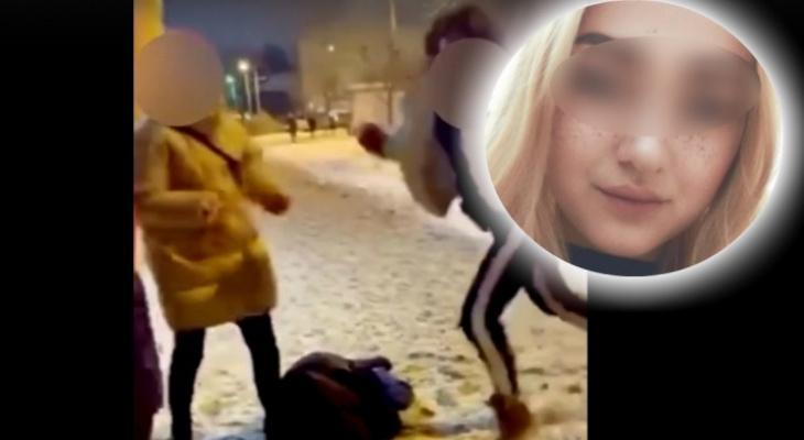Девочка-«бизон» избивает других девушек