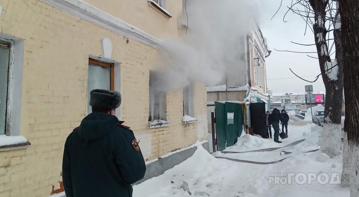 В центре Владимира из горящего дома спасли трёх кошек