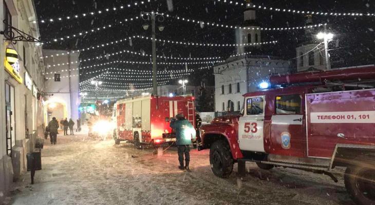 В центре Владимира в Торговых рядах горел магазин  «Гусевской хрусталь»