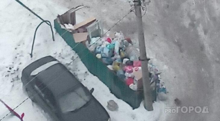 Жители Владимира жалуются на переполненные мусорные баки
