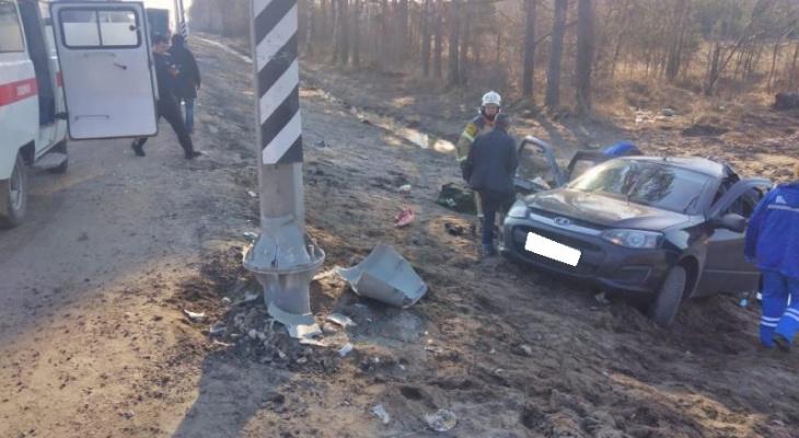 Смертельная авария во Владимирской области: легковушка протаранила ЛЭП