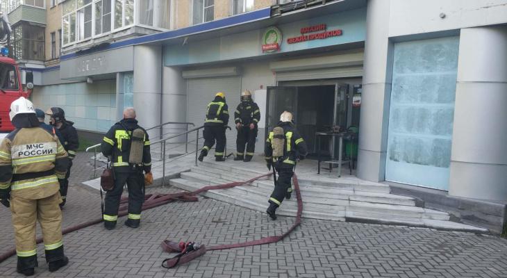В Коврове горел продуктовый магазин