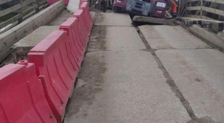 Под большегрузом из Владимира рухнул мост в Ивановской области