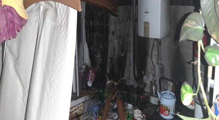 Сгорела кухня в пятиэтажке