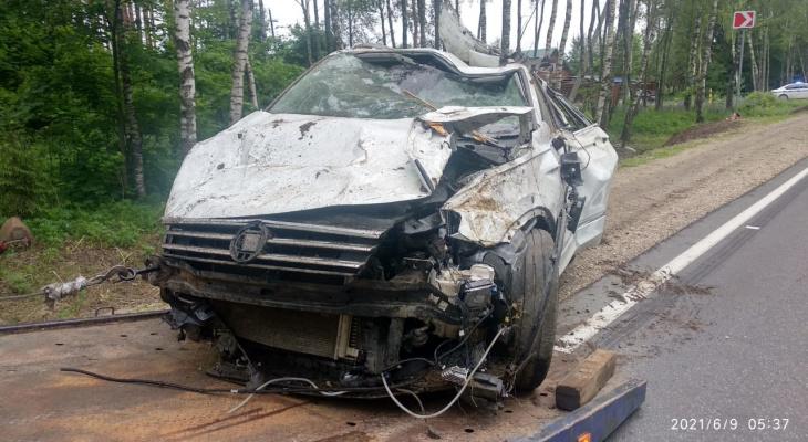 В Киржачском районе машина превратилась в груду металлолома