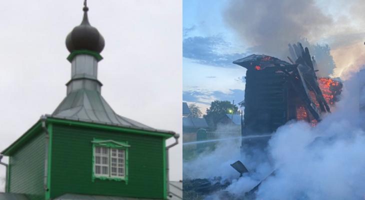Во Владимирской области дотла сгорела старообрядческая церковь