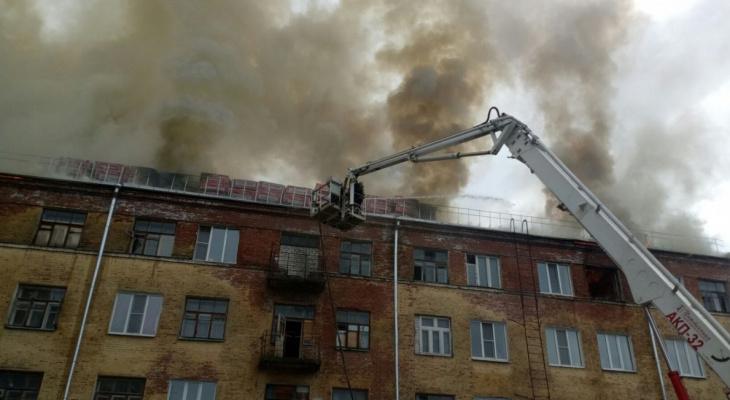 Сейчас в Коврове тушат крупный пожар в четырёхэтажном жилом доме